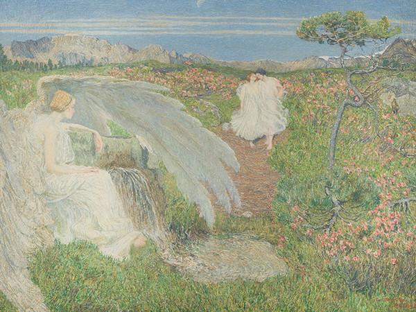 Giovanni Segantini, L'amore alla fonte della vita, 1896, olio su tela, 70x98 cm. Milano, Galleria d'Arte Moderna
