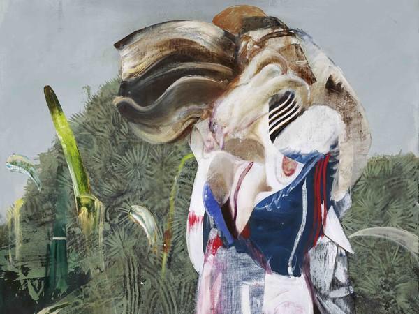 Adrian Ghenie, <em>Figure with Dog</em>, 2019, Olio su tela, 200 x 250 cm | &copy; Adrian Ghenie / Galerie Thaddaeus Ropac, London &middot; Paris &middot; Salzburg<br /><br />