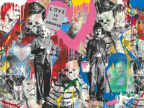 Mr. Brainwash, Juxtapose, 2018, mixed media on paper, 76x152 cm.