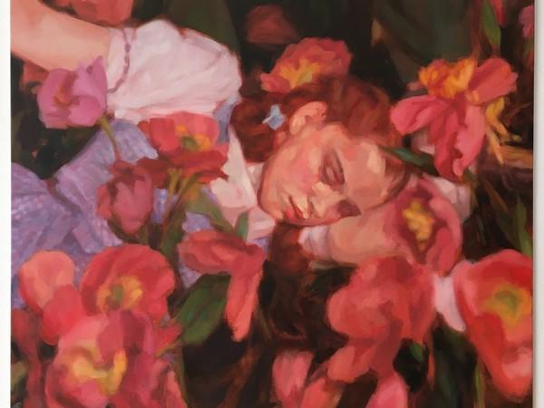 Sarah Ledda, Ophelia, 2020, olio su tela, cm. 68x80