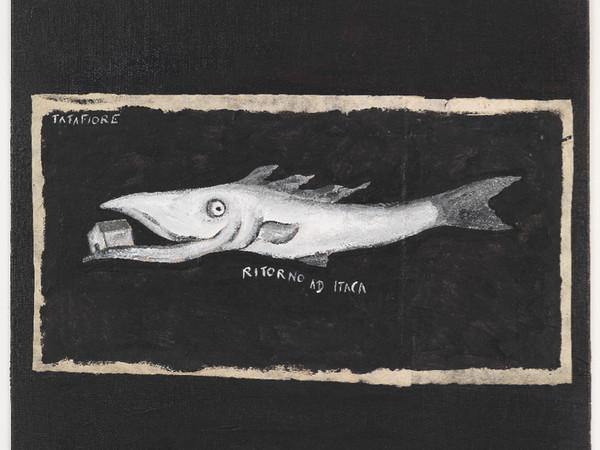 Ernesto Tatafiore, Ritorno a Itaca, 2016, acrilico su tela, cm. 50x50