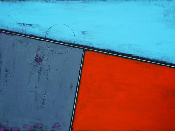 Andrea Massari, La regola e il tempo 12, 2018, smalto, acrilico e pastello su tela, cm. 50x70