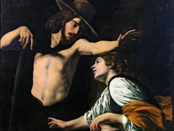 Museo di Palazzo Pretorio, Battistello Caracciolo, <em>Noli me tangere</em>, 1618, Olio su tela, 142 x 123 cm<br />