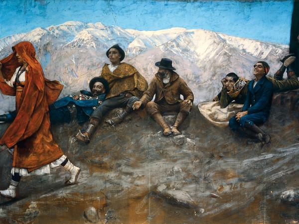 Paolo Michetti, La figlia di Iorio, 1895, dipinto a tempera su tela, cm. 550 x 280