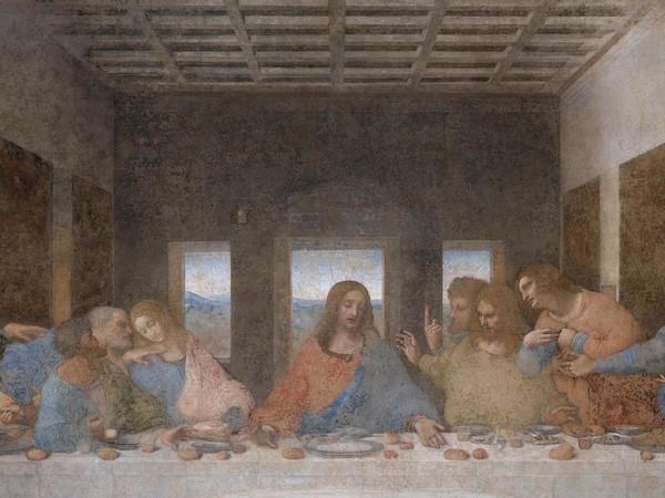 Leonardo da Vinci, L'Ultima Cena, 1495-1498, tempera su gesso, 460×880 cm, Santa Maria delle Grazie, Milano