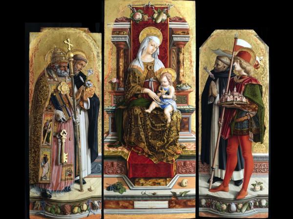 Carlo Crivell, Trittico di San Domenico, 1482. Tempera su tavola. Pinacoteca di Brera, Milano