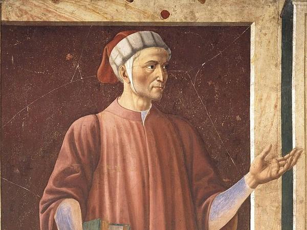 Andrea del Castagno, Dante, Ciclo degli uomini e donne illustri, 1450. Cenacolo dell'ex convento benedettino di S. Apollonia, Firenze.