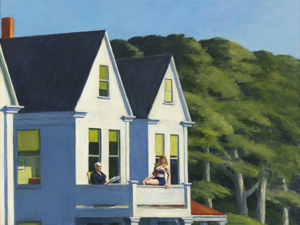 Edward Hopper, Second Story Sunlight, 1960, Olio su tela, 127.3 x 102.1 cm, Whitney Museum of American Art, New York, Purchase, with funds from the Friends of the Whitney Museum of American Art., Inv. N.: 60.54 | © Heirs of Josephine Hopper / 2019, ProLitteris, Zurich | Foto: © 2019. Digital image Whitney Museum of American Art / Licensed by Scala
