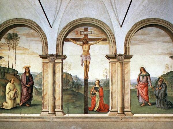 Crocifissione con la Maddalena, la Vergine, san Bernardo di Chiaravalle, san Giovanni Evangelista e san Benedetto