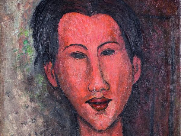 Amedeo Modigliani, Ritratto di Chaim Soutine, 1917, Olio su tela, 35 x 55.5 cm, Collezione privata | | Courtesy of Palazzo Ducale, Genova 2017