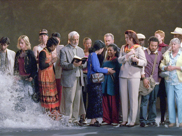<span>Bill Viola, The Raft, May 2004. Video/sound installation </span><br /><br />