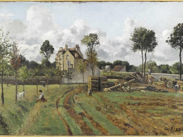 Camille Pissarro, Allée de la Tour du Jongleur et maison de M. Musy, Louveciennes