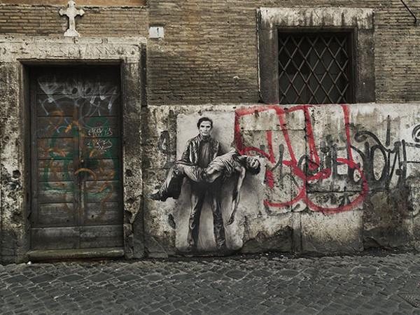 Ernest Pignon-Ernest, Pier Paolo Pasolini, Roma, 2015