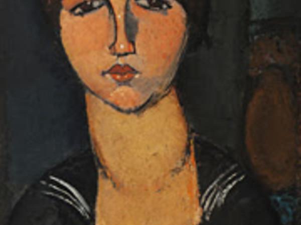 Amedeo Modigliani, Ragazza con il bavero alla marinara, 1916