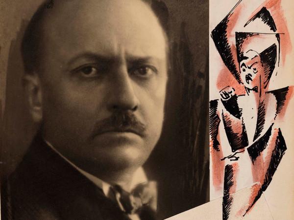 Tullio Crali, Il futurista Marinetti (dettaglio), 1931, Mart