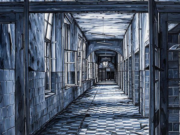 Andrea Chiesi, Karma, 2016, olio su lino, cm. 50x70