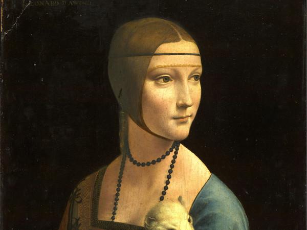 Leonardo da Vinci, Dama con l'Ermellino, 1487 - 1490 ca., Olio su tavola, 40.3 x 54.8 cm, Cracovia, Museo Nazionale di Cracovia