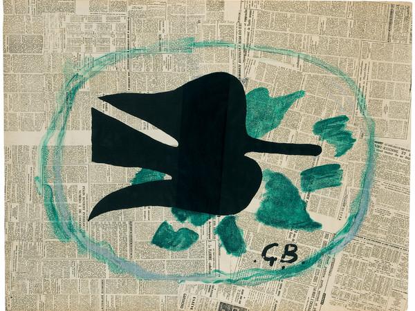 Georges Braque, L'Oiseau dans le feuillage, 1961, litografia a colori su carta Rives, applicata su cartone, 805x1050 mm. Prestito permanente della Sparkasse Münsterland Ost al Kunstmuseum Pablo Picasso Münster
