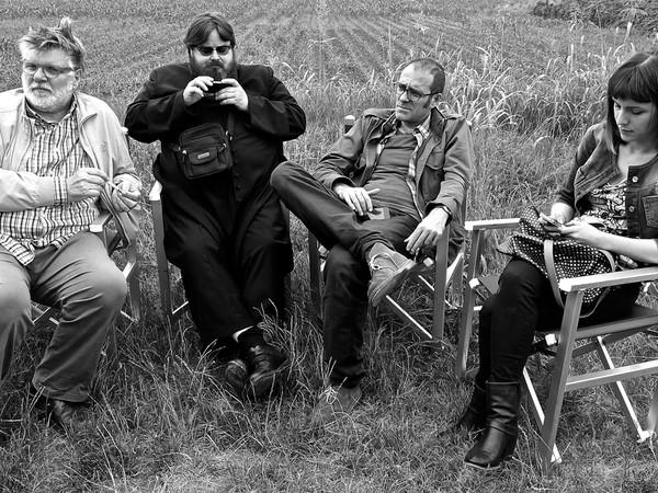 Dal set del film <em>La sedia della felicità</em> (2013)