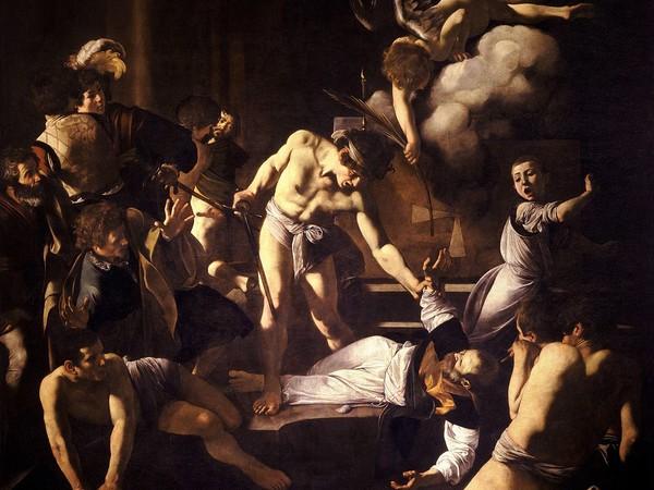 Caravaggio, Martirio di san Matteo, olio su tela, ca. 1599-1601, 323x343 cm. Cappella Contarelli della Chiesa di San Luigi dei Francesi, Roma