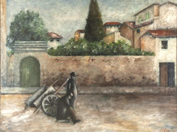 Ottone Rosai, Piazza del Carmine a Firenze 1927 olio su tela, cm. 109x134. Bergamo, Collezione UBI Banca, Bergamo