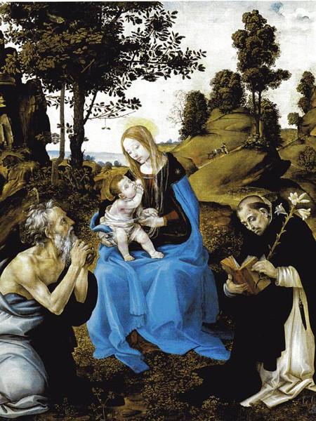 Madonna col bambino e Santi Girolamo, Battista, Gregorio e Andrea