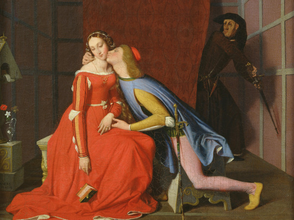 Jean-Auguste-Dominique Ingres (Montauban, 1780 - Paris, 1867), Paolo e Francesca sorpresi da Gianciotto, 1819, Olio su tela, 50.3 x 40.7 cm, Angers, Musée des Beaux-Arts