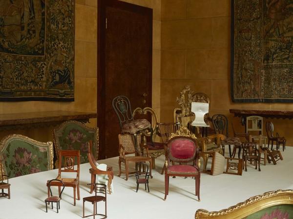 in miniatura modelli e mobili in legno mostra milano