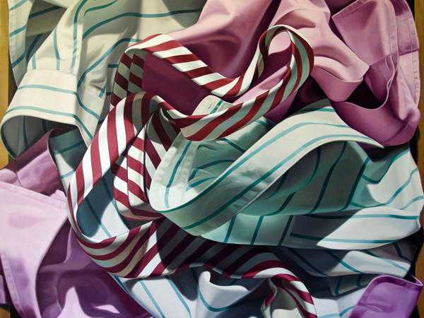 Alberto Magnani, Camicie nel Cassetto, 2018, olio su tela, 90x100 cm.