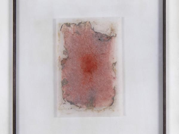 Gregorio Botta, Dello stupore, 2018, ferro, vetro, carta di riso, carta  da restauro, pigmenti, cm. 70x50