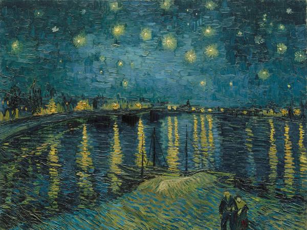 Vincent van Gogh (1853 - 1890), Notte stellata sul Rodano, 1888, Olio su tela, 92 x 72.5 cm, Parigi, Musée d'Orsay   Foto: © RMN-Grand Palais (musée d'Orsay) / Hervé Lewandowski