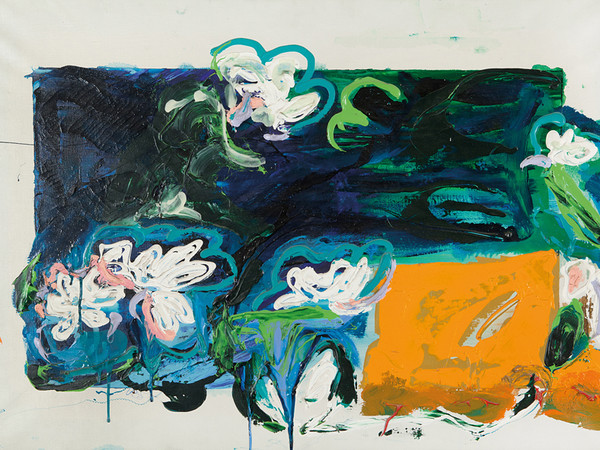 Mario Schifano, Acquatico, 1992. Smalto e Acrilico su Tela, cm 70x100