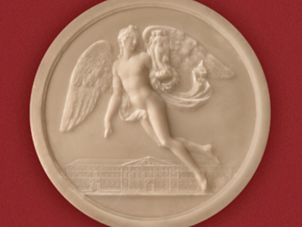 Vittorio Nesti, Il Genio alato con le tre Arti sorvola il palazzo dell'Accademia