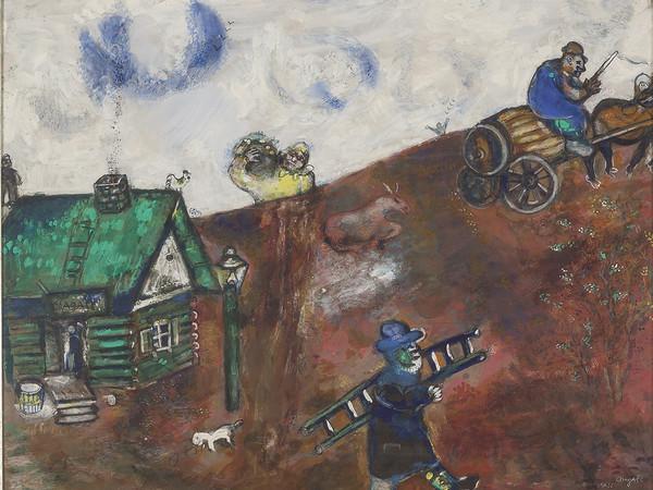 Marc Chagall, La charette, 1925