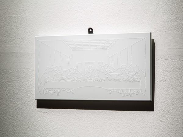 Scultura tangibile con tecnica ispirata all'alfabeto Braille del Cenacolo di Leonardo Da Vinci