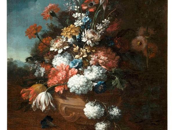 Gasparo Lopez (attr.), Composizione di fiori, inv. 1721 1730 ca. Olio su tela, 75 x 57 cm. Prato, Museo di Palazzo Pretorio