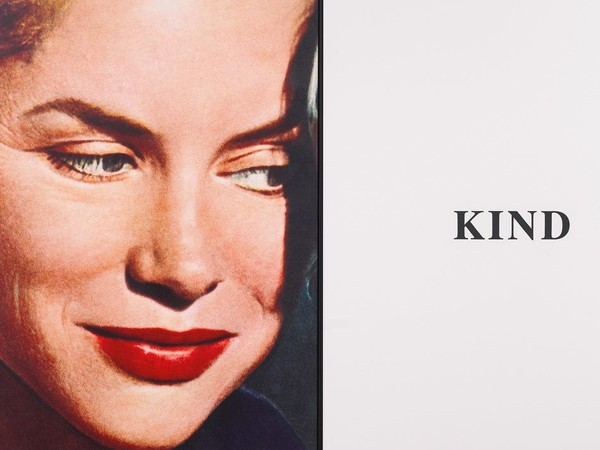 John Baldessari, Prima Facie (Second State): Kind 2005, archival digital print on canvas with UV varnish coating and acrylic on canvas, in 2 parts, 169 x 276 cm.