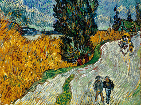 Vincent van Gogh, <em>Sentiero di notte in Provenza</em>, 1890, 92 x 73 cm, Otterlo, <span>Kröller-Müller <span>Museum</span></span><br />