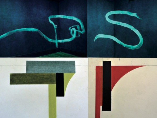 Pat Steir e David Tremlett. New works for walls, Galleria Alessandra Bonomo, Roma