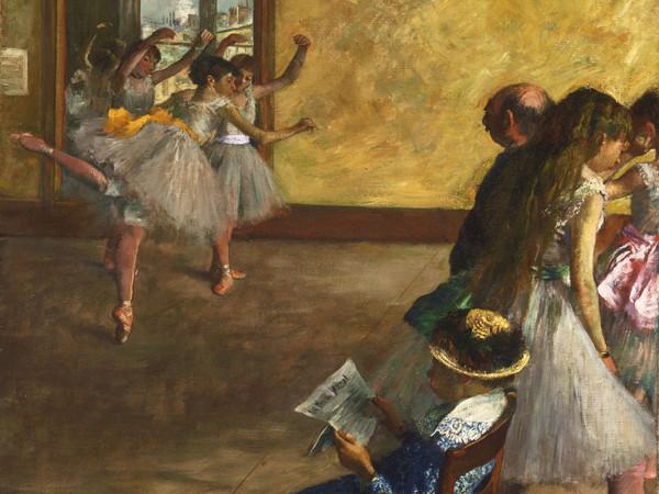 Edgar Degas,<em> La classe di danza</em>, 1880 circa, Olio su tela, 76.8 x 82.2 cm, Philadelphia Museum of Art, Acquistato con il W. P. Wilstach Fund, 1937