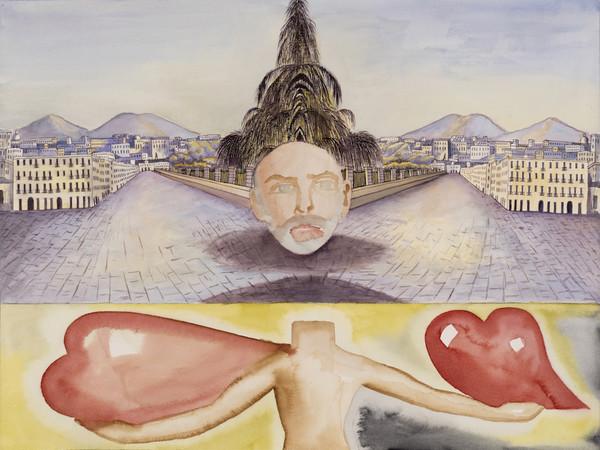Francesco Clemente, Senza Titolo, 2018,  acquerello cm. 46x61