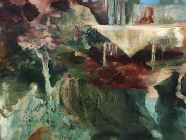 Alice Faloretti, Ricordo latente, 2018, olio su tela, cm. 160x140