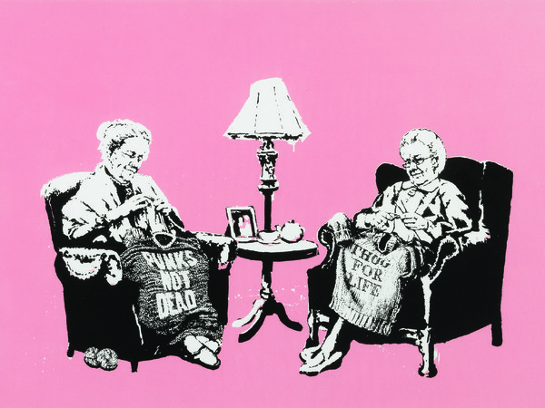 Banksy, Grannies, 2006
