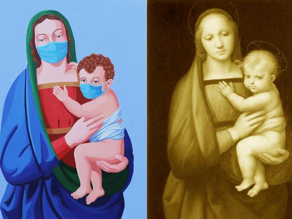 Giuseppe Veneziano,<em>La Madonna della Sanificazione VS Madonna del Granduca</em>, 2020