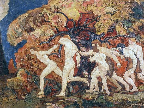 "<span>Anselmo Bucci, Studio per ""I Maschi"", 1909-11, olio su tela, 50x100 cm</span>"