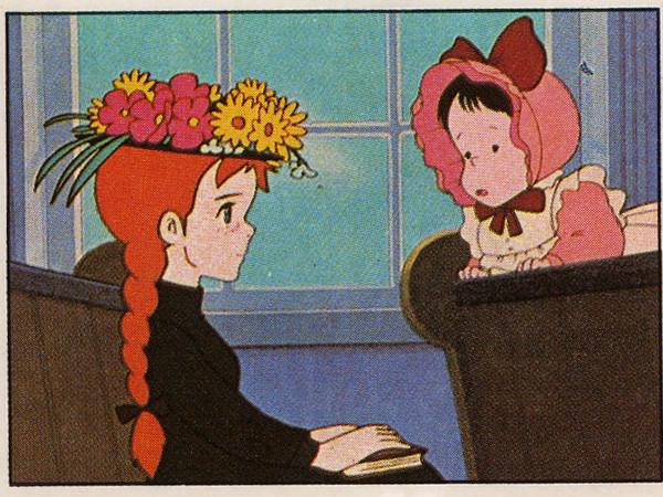 Anna dai capelli rossi, 1980, Panini, Modena. Dall'album per la raccolta di 240 figurine