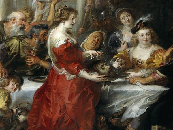 Peter Paul Rubens, Banchetto di Erode (1635-1638 ca), olio su tela, 208 x 272 cm. Edimburgo, National Galleries of Scotland