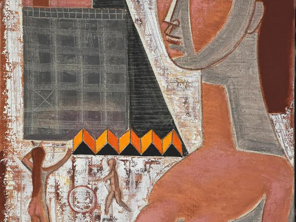 Mario Tozzi, La casa rosa, 1967. Olio su tela, cm. 825x545