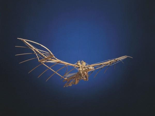 Leonardo da Vinci, Modello di macchina volante