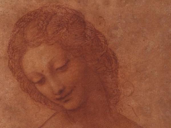 Leonardo da Vinci (e collaboratore?), <em>Studio per la testa di Leda</em>, 1505 circa, Milano, Castello Sforzesco, Civico Gabinetto dei Disegni | © Comune di Milano - Tutti i diritti sonoriservati<br />